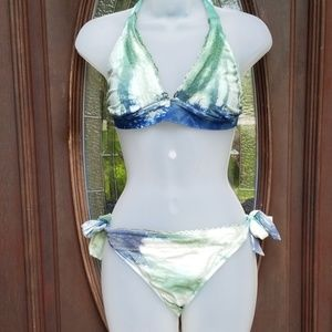 Lucky Brand Tie Dyed Bikini Size L